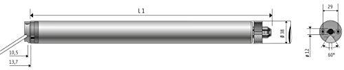 Somfy Ilmo 40 WT 13/10 NL BK mit Kabel 2,5m weiß