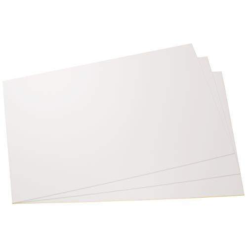 Placas de poliestireno placas PS placas blanco fuerte, rigido, duro plásticas para modelismo/manualidades en blanco, diferentes tamaños y cantidades, comprar 3 piezas, 420mm x 297mm x 2mm