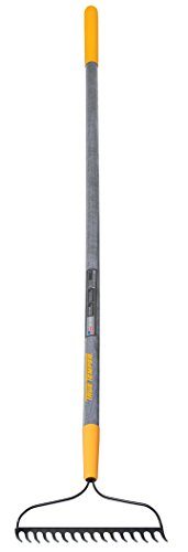True Temper 2811600 Steel 16-Tine Bow Rake with 57 in. Hardwood Handle with Cushion Grip, 16 inch