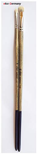 elco Pinsel Set 2pcs, no° 6,12, Holz, für Öl, Acryl, Gouache Germany 3052350819020