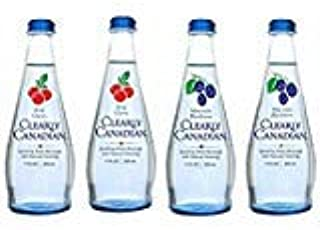 Clearly Canadian Sparkling Flavored Water (4 Pack, including 2 of each) Mountain Blackberry, Wild Cherry