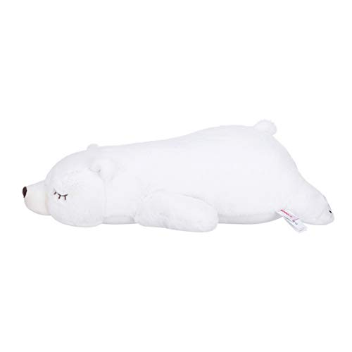 MINISO Lovely Lying Polar Bear Plush Pillow Toy 20' for Boy Girls Stuffed Doll Gift
