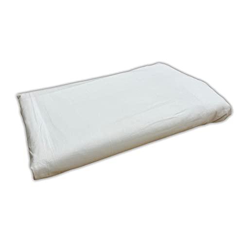 Tela por metros de sábana lisa - Algodón y poliéster - Confeccionar ropa de cama, decoración, manualidades - Retal de 300 cm largo x 270 cm ancho   Blanco - 3 metro