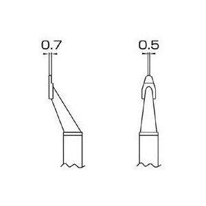 エスコ 0.7x2.0mm交換用こて先(EA304AH-5用) EA304AH-504