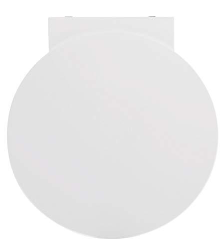SITZPLATZ - 56632 2 - WC-Sitz Reflex in Weiß - WC Brille mit Absenkautomatik aus Duroplast mit Edelstahl-Scharnier