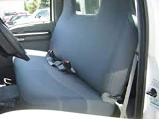 Durafit Seat Covers, 1999-2007 Ford F250-F550 Work Truck, Front Solid Bench Seat, Custom Exact Fit Seat Covers, Gray Charcoal, Industrial Strength Waterproof Endura Fabric
