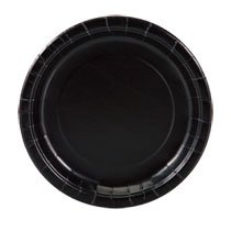Party Color Paper Plates Black 9' 40 Count