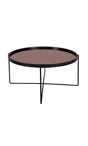 Present Time - Table Basse Noir Plateau Miroir cuivre Polished XL