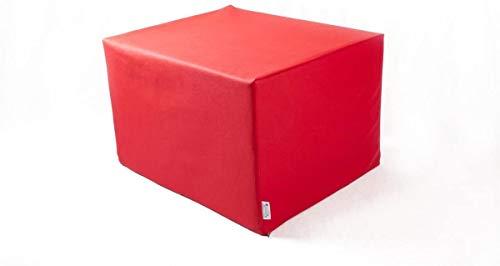SW Bedding Stufenlagerungswürfel mit Bezug Kunstleder Standard rot