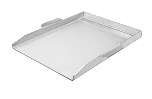 mocisa Universal Grillplatte mit Griffen für perfektes Handling   Plancha   BBQ-Wanne   Grillkorb   Made in Germany   Edelstahl   Massiv   hochwertig verarbeitet   40cmx30cm Universal