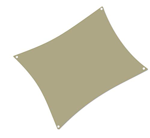 ALOHA Sonnensegel mit UV Schutz wasserabweisend Windschutz wetterschutz Garten und Terrasse (Beige, Rechteck 2x3m)