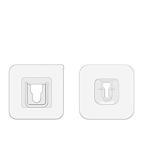 Productos de Décor de Inicio Ganchos de pared adhesiva de doble cara Percha fuerte adhesivo transparente gancho de succión Tazas de succión Soporte de pared para el hogar y la cocina Para entrada, bar