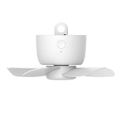 QNMM Ventilador Techo Recargable, 8000mAh USB Recargable Control Remoto Temporización 4 Engranajes Ventilador Techo Ventilador Colgante Enfriamiento para Tienda de Campaña Cama Camping Exterior Hogar