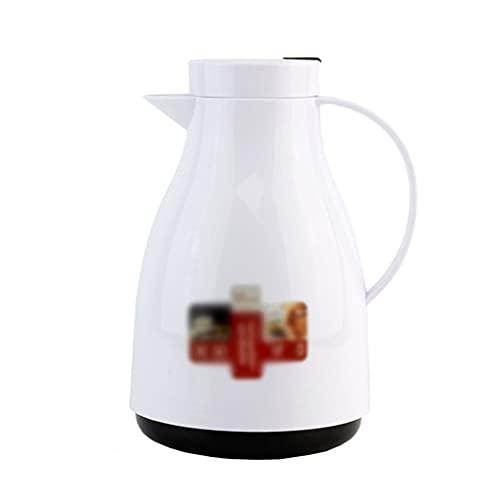 SHYOD 1000ml Mini pequeño Estilo Europeo de Dibujos Animados Thermos Frasco Frasco de Vidrio Potilla de vacío Botella de Agua térmica (Color : White)