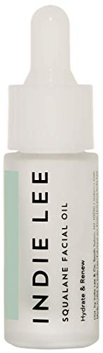 Indie Lee Squalane Facial Oil - Nourishing Face Oil with Moisturizing Squalane for Skin Texture & Tone (10 ml)