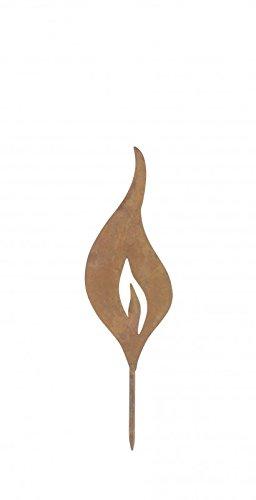 Unbekannt Flamme Zum Stecken Stecker Flamme Gartenstecker Rost Deko Gartendeko Mini