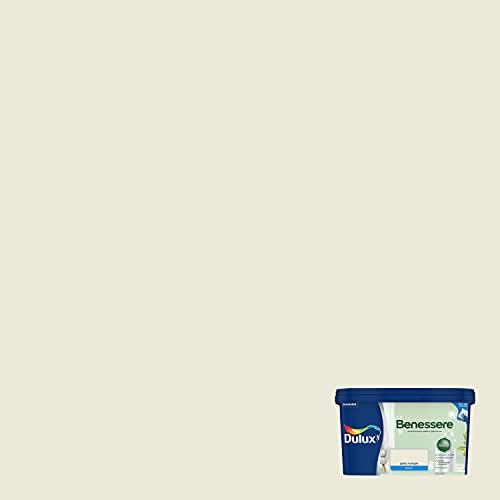 Dulux Benessere - Pintura de colores al agua para interiores, superlavable, antimoho, antibacterias, con iones de plata, 2,5 litros, amarillo vainilla