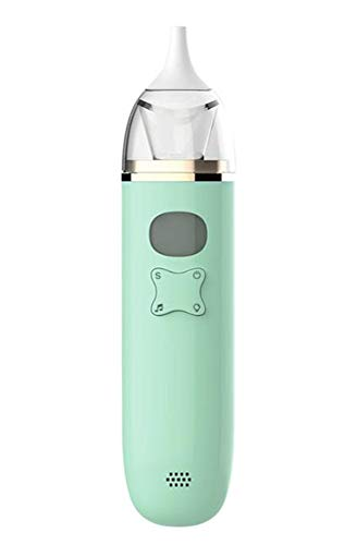 Aspirador nasal eléctrico de succión nasal Snotsucker automático con ventosa de mocos y boquillas reutilizables, material seguro, funciona con pilas para bebés, niños y bebés