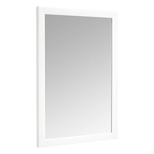 Amazon Basics Miroir mural rectangulaire, 50,8 x 71,1 cm - Encadrement classique, Blanc