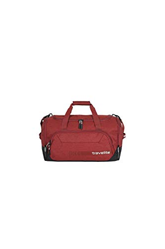 travelite Reisetasche Größe M, Gepäck Serie KICK OFF: Praktische Reisetasche für Urlaub und Sport, 006914-10, 50 cm, 45 Liter, rot