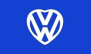 UB Fahne/Flagge VW Love Herz 60 cm x 90 cm Neuware!!!
