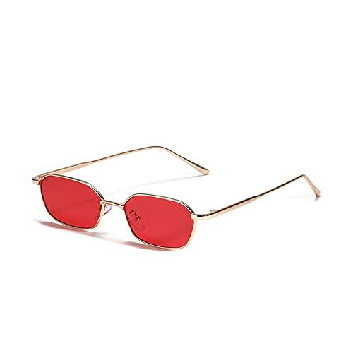 IRCATH Classic Square Gafas de Sol para Hombres y Mujeres Pequeño Marco de Metal Colección UV400 Adecuado para Golf, Ciclismo, Gafas de Sol de Pesca-1 Adecuado para Conducir en la Playa y Practicar s