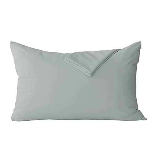 RUIKASI - Juego de 2 fundas de almohada (50 x 70 cm), color gris