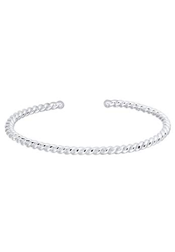 Elli Armband Damen Basic Armreif Gedreht Twisted Basic in 925 Sterling Silber