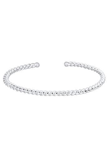 Elli Armband Damen Basic Armreif Gedreht Twisted Basic in 925 Sterling Silber