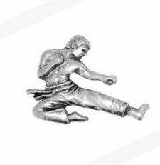 Geschenk In Box Zinn Karate Player Abzeichen Anstecker oder Brosche Geschenk für Schal, Krawatte, hat, Mantel OR Bag