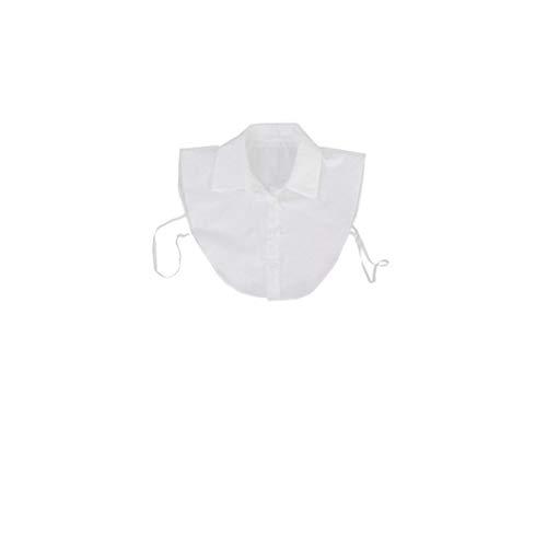 Blusa De Cuello Desmontable Dickey Cuello De La Blusa La Mitad De Camisas del Collar Falso para Niñas Y Mujeres Blancas