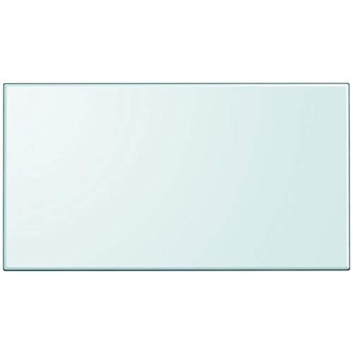 """Unfade Memory High Strength Tabletop Tempered Glass/Thickness 0.3""""/ Flat Polish Eased Edge (47.2""""x25.6"""", Rectangular)"""