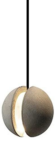 LYEJFF Luz de Luna nórdica Luz, araña de Cemento Simple Creativity Single Head Techo Luz de Techo para Dormitorio Sala de Estar Decoración del hogar C