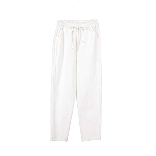 Pantalones Casuales De AlgodóN Y Lino para Mujer, Primavera