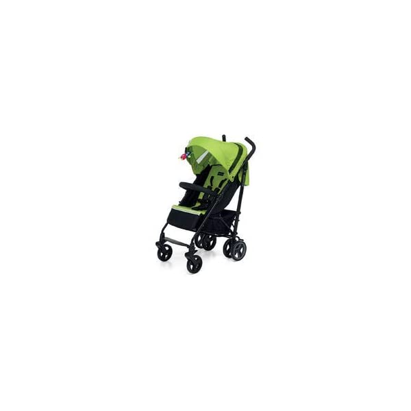 Foppapedretti Hurrà Compact Stroller for 0-3 Years Sport Green Foppapedretti Practical, handy and compact, Hurrà is the pushchair with lightweight aluminium frame, it closes in an umbrella taking up little space. Can be used from birth up to 3 years (children up to 15 kg); multi-position backrest, gate protection armrest Front swivel wheels with device to stop movement, while the rear are equipped with brake 1