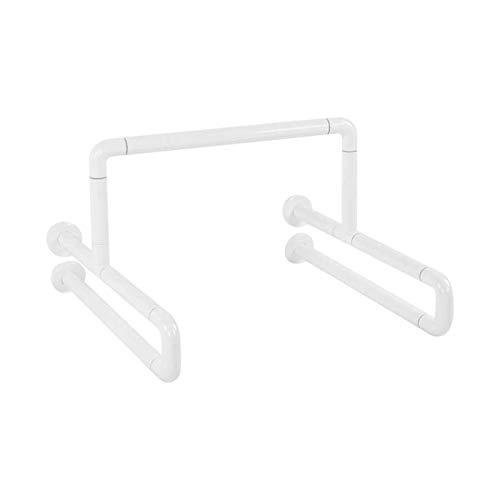 Handrail Edelstahl-Badezimmer-Sicherheitshandschiene weiße Toilettenstange mit fluoreszierender Ring-Badezimmer-Hardware für ältere Menschen