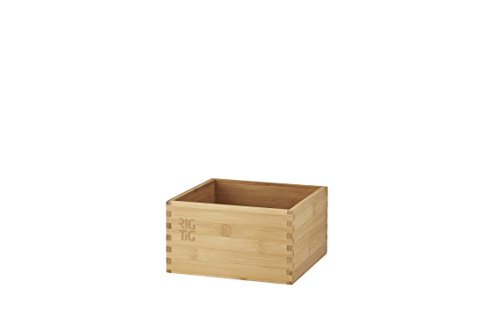 RIG-TIG by Stelton ZPR3-1 Woodstock Aufbewahrungsbox - klein, Bambus, braun, 18 x 18 x 10 cm
