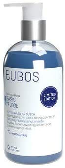 Eubos Flüssig blau unparfümiert mit Dosierspender 250ml Neu limited Edition