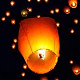 ACTIMOB Paper Sky Lanterns Multicolour Wishing Hot Air Balloon/Flying Night Sky Candle for Diwali/Christmas/Marriage/Birthday/All Festival - Pack of 10
