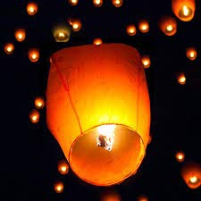 Sky Lanterns Multicolour Wishing Hot Air Balloon/Flying Night Sky Candle for Diwali/Christmas/Marriage/Birthday/All Festival (Pack of 10)