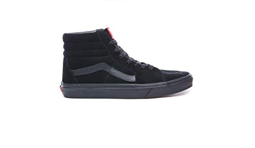 Vans Sk8-hi, Unisex Adults' Hi-Top Sneakers, Black (Black/Black), 9 M US Women/ 7.5 M US Men