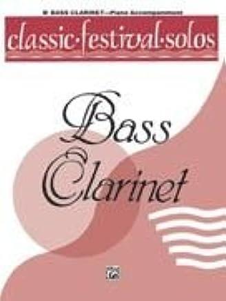 Alfred Publishing 00-el03729Classic festival Solos–b-flat Bass Clarinet volume i piano ACC.–Music Book