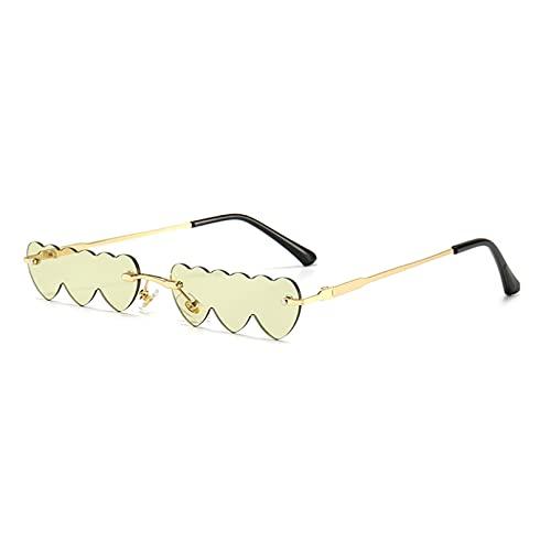 LUOXUEFEI Gafas De Sol Gafas De Sol De Mujer Sin Montura Hombre Gafas De Sol Decoracion Rosa Amarillo