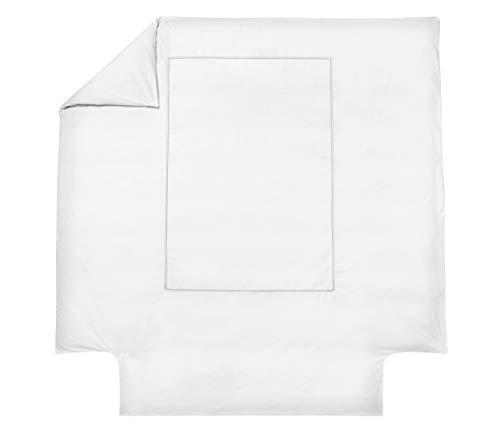 Blanc des Vosges Housse de Couette Souvenir Ardoise 260 x 240 cm - Percale 100% coton 80fils/cm²