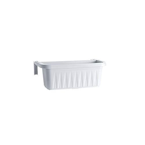 Bama balconetta rectangulaire 'Hirondelle' cm 50 x 20 x H.18,5 – lt. 11 Blanc