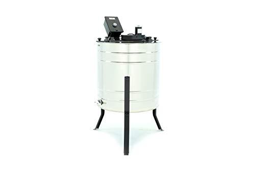 LYSON 4-Waben Honigschleuder Diagonalschleuder Ø500 elektrisch, Honigextractor mit elektrischem Antrieb aus säurebeständiger Edelstahl Type 304 Tangentialschleuder für 4 Rähmchen DNM, LN, Zander