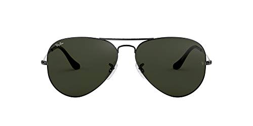 Ray-Ban RB3025 Classic Aviator Sunglasses, Gunmetal/Grey/Green, 58 mm
