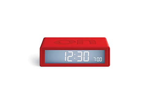 Lexon Flip Plus Travel Reversible LCD Alarm Clock Radio Controlled - Red