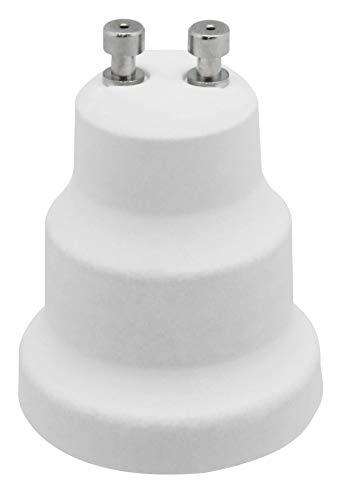 Electraline 71193 - Portalámparas conversor adaptador de GU10 a E27