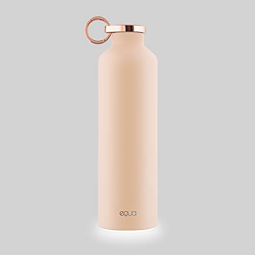 EQUA Smart Water Bottle - 23 oz - Bluetooth Connection with App and Light Signal Reminders - Double Wall Stainless Steel Vacuum Flask - Metal Lid